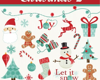 INSTANT DOWNLOAD Christmas 2 Clip art -Personal and Commercial Use-
