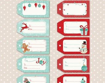 CHRISTMAS Printable Tags, cards/labels, place cards, recipe cards, gift tags, labeling, scrapbooking, etc.....