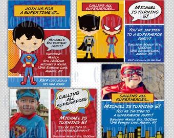 Superheroe 1 Invite/ Party digital printable invitation