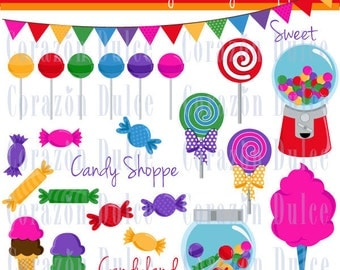 INSTANT DOWNLOAD My candy shoppe Personal and Commercial Use Clip Art
