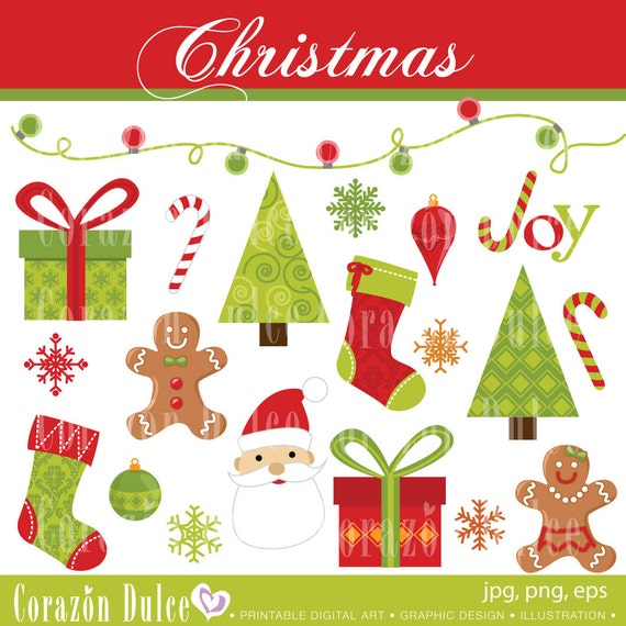 CHRISTMAS 1 - Personal and Commercial Use Clip Art:Originals design elements
