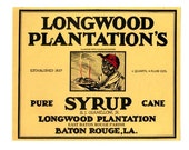Longwood Plantation's New Orleans Pure Cane Syrup Label