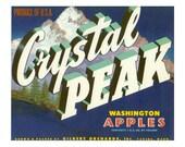 Crystal Peak Washington Apple Crate Label