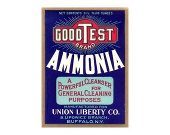 2 GoodTest Vintage Ammonia Labels