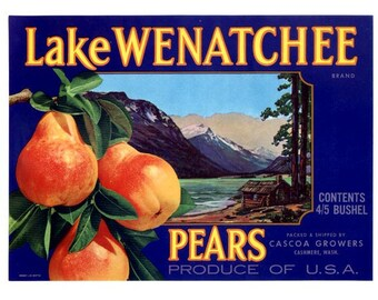 Lake Wenatchee Washington Pears - Blue label