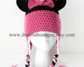 Minnie Mouse inspired crochet hat