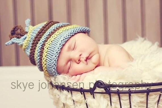 0-3 Month Boutique Baby Boy Cotton Korker Beanie Hat Newborn Photography Prop