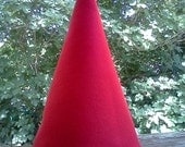 Adult Felt Red Gnome Hat Christmas Elf Costume Photo Prop