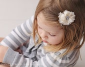 Vintage toddler hairclip The Ivory Mini vintage inspired cream flower clip