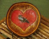 Gourd Crow Heart Bowl by Tim Greenhalgh, Gourdwright