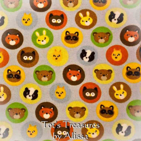 Woodland Animal Baby Blanket.....Flannel and Minky with Optional Satin Ruffle