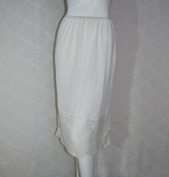 1950s Vanity Fair White Half Slip, Small, Medium