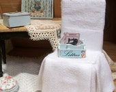Robin's Egg Blue Miniature Letter Sorter in Shabby and Chic Cottage French style - 1:12 dollhouse miniature