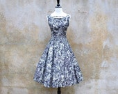 Reserved for Cheryl Vintage 1950s dress and jacket black and white 50's sleeveless dress