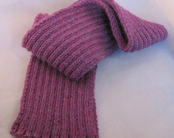 Hand Knitted Pink Wool/Alpaca Scarf