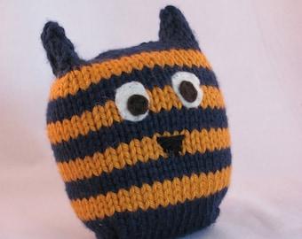 Handknit Stuffed Owl