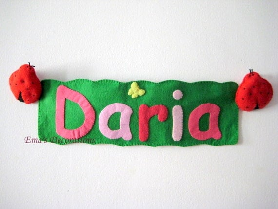 Personalized Name Banner For Kids Room, Birthday Banner Girl, Baby Girl Name