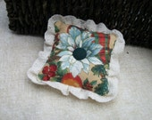 SALE  Tiny Christmas pillow for pincushion or bowl filler