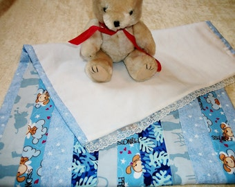 Blue doll quilt