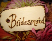 Bridesmaid Gift Tag Wedding Groomsman Favor Wood Ring Bearer Maid of Honor Rustic Bachelorette Party western cowboy barn fall harvest