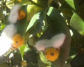 Three needle felted bees for spring