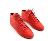 Strawberry Cut Out Rain Booties for a Women's Size 8