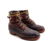 Vintage Herman Survivors Mens Boots in Oxblood Worn in Leather for Size 10 1/2