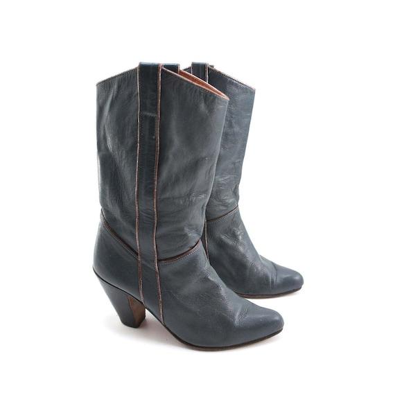 Fashion Boots Metallic Winter High Heeled by Andrew Geller / Women's Size 7 B