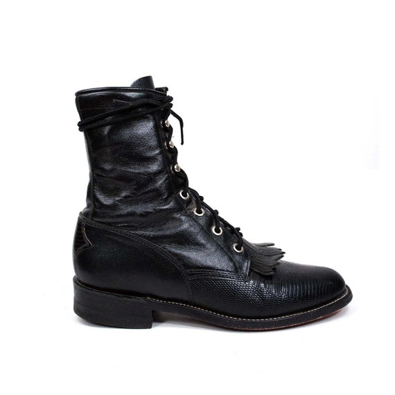 Exotic Justin Roper Boots In Lizard Skin And By Nashdrygoods