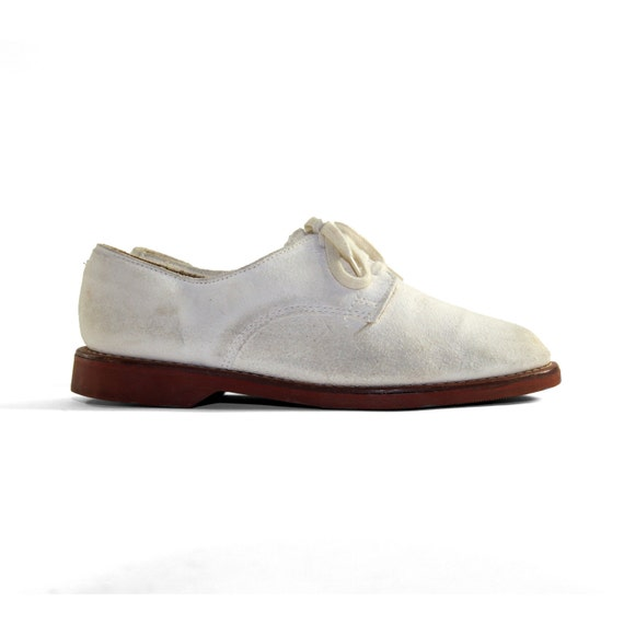 s ralph country oxford shoes in soft white by