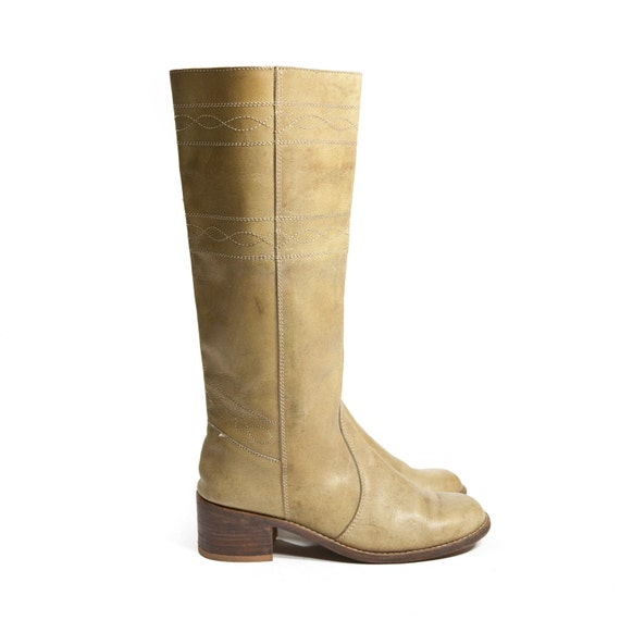 Vintage Women's Campus Boots Tall Leather Western Boots for size 8 - 8 1/2 B