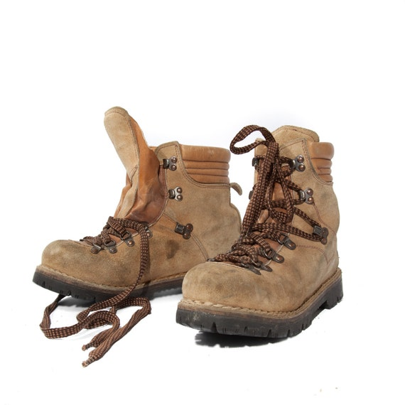 Vintage Leather Hikers Colorado By Kinney Sport Mountaineering Boots Best fit Men's 8 / Women's 9 1/2