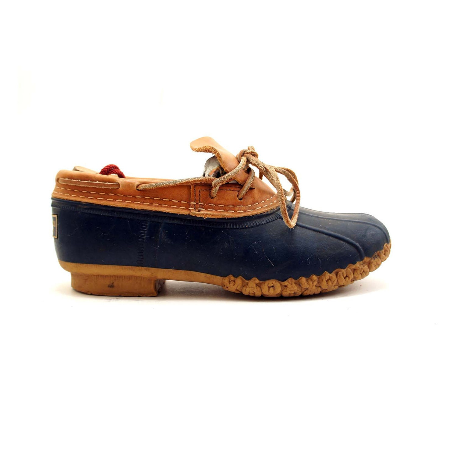 Ll Bean Duck Shoes Blue And Tan For A Women S Size 6 Best