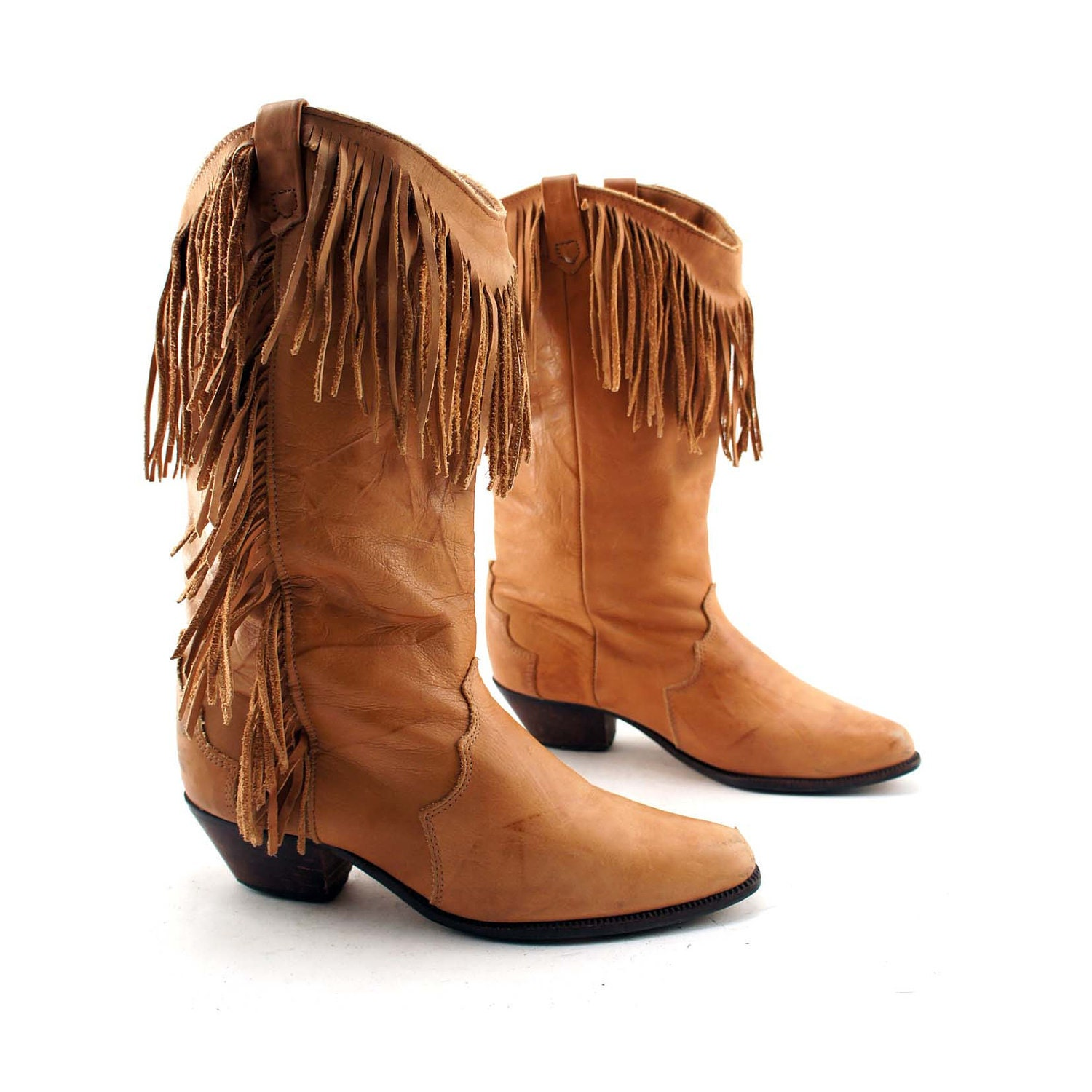 black friday boho fringe cowboy boots camel brown leather