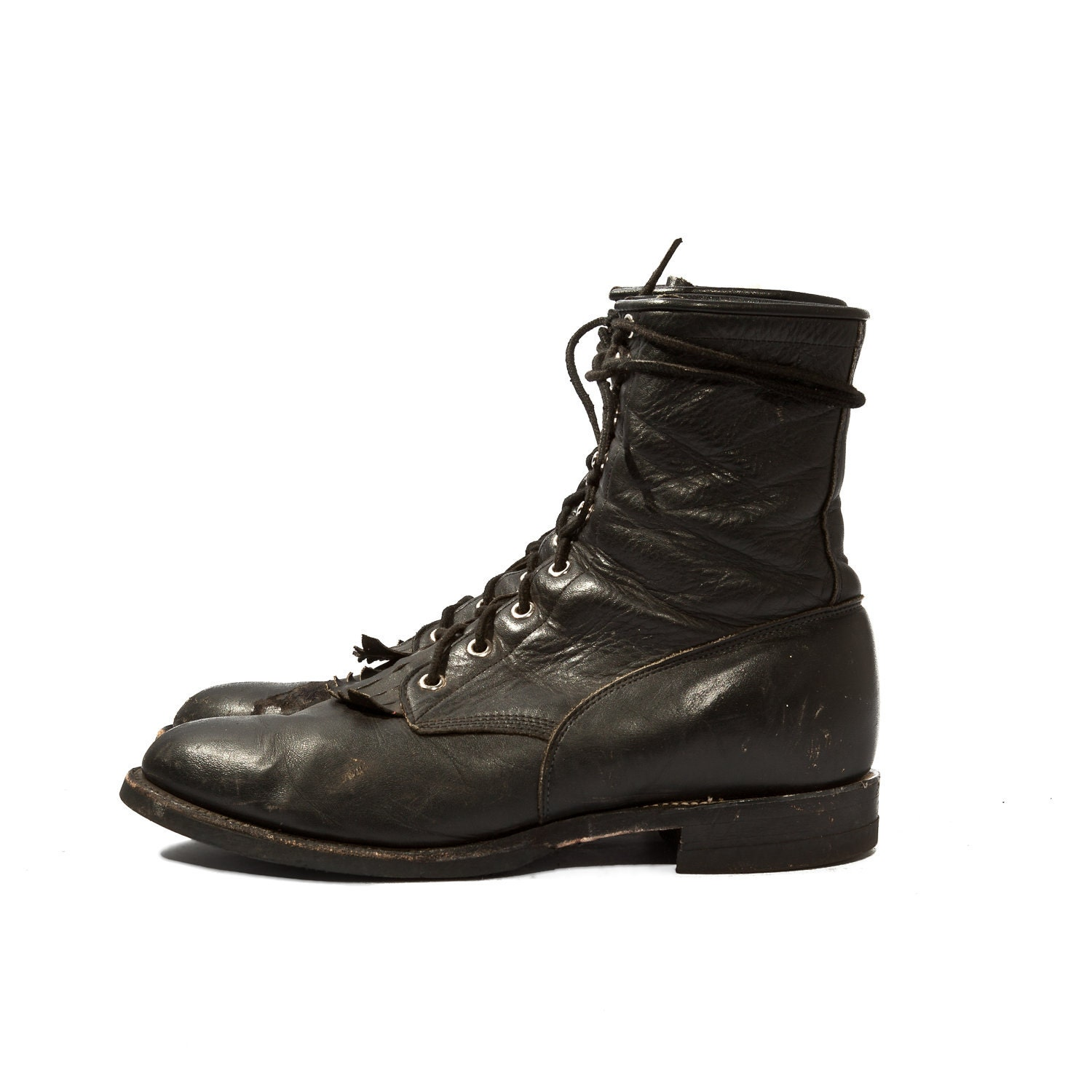s justin roper boots black lace up ankle boots for a