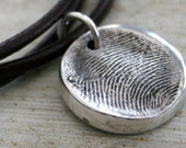 Personalized Double Sided Fingerprint Necklace
