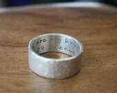 Between Us Hammered Ring - partner ring, wedding ring, silver ring, wedding band, custom ring, partner ring, promise ring, bespoke ring