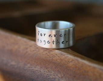 Personalised Pure and Simple 10mm Ring - silver band, silver ring, wedding ring, promise ring, partner ring