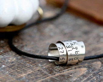 Personalized Secret Scroll Chain - Fathers Day Gift, male leather necklace, personalized necklace, scroll necklace