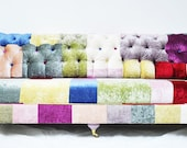 velvet chesterfield patchwork sofa