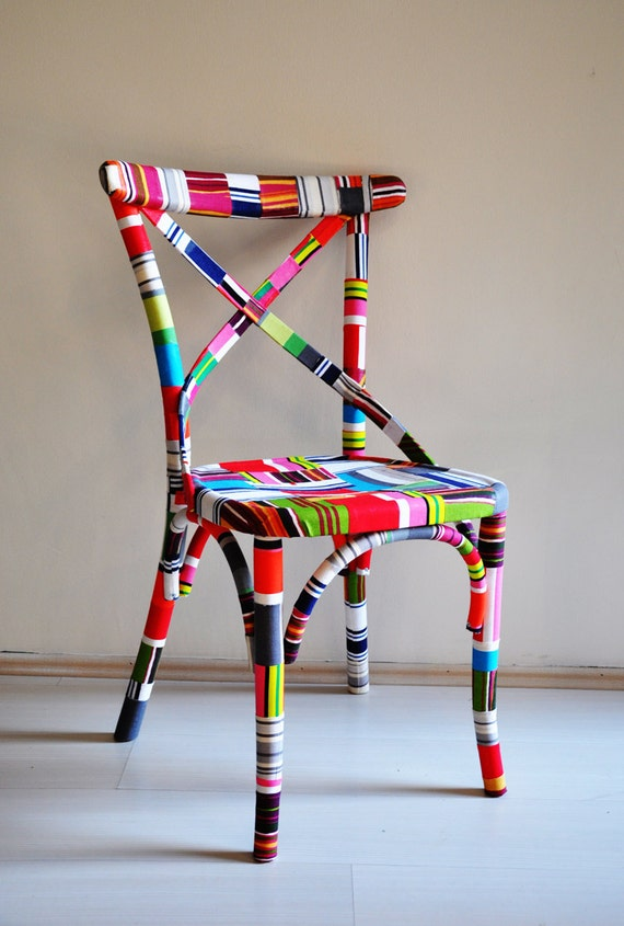 4 x colorful Thonet chairs (custom order)