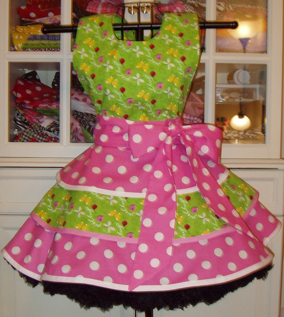 Sexy Bugs and Polka Dots Apron