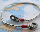 Nautical Jewelry Short Necklace Men's and Women's Sailing Hardware Rope Surfer Kayaker Sailor