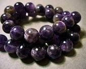 Amethyst Round Beads 8mm