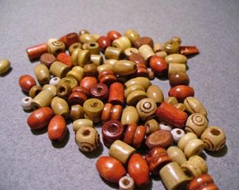 Mixed Wood Beads