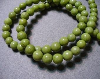 Jasper Beads Green 6MM