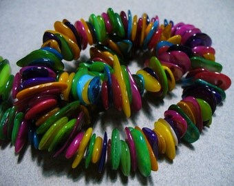 Mother of Pearl Chips Jewel Tones 10MM - 15MM