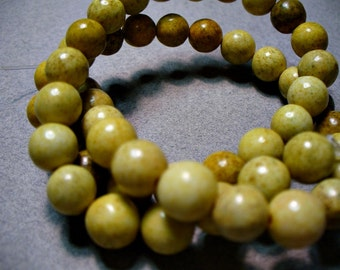 Jasper Beads Gemstone Yellow  7-8MM