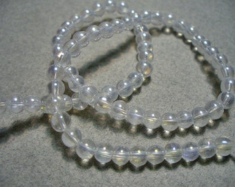 Glass Beads Clear AB Round 4MM