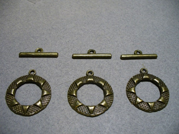 Toggle Clasp Antique Brass 24MM
